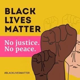 Justice Black Lives Matter Social Media Post