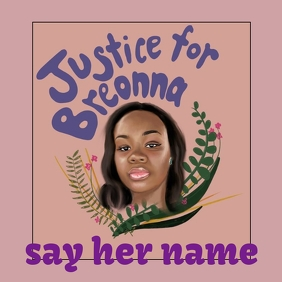 justice for breonna taylor 专辑封面 template