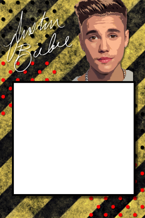 Justin Bieber Party Prop Frame Template | PosterMyWall
