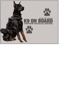 K-9 on board Poster template