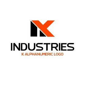 K alphanumeric logo template