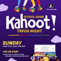 Kahoot Trivia Night Instagram Post template