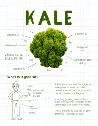 Kale Vegetable Facts Infographic