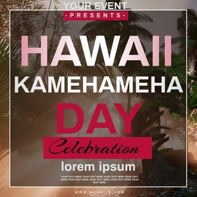 KAMEHAMEHA day EVENT AD TEMPLATE 方形(1:1)