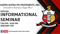 Kappa Alpha Psi Fraternity นามบัตร template