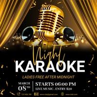 Karaoke, Karaoke flyer, Karaoke Night, jazz Wpis na Instagrama template