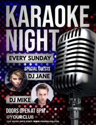 Karaoke, Karaoke flyer, Karaoke Night, jazz