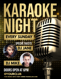 Karaoke, Karaoke flyer, Karaoke Night, jazz template