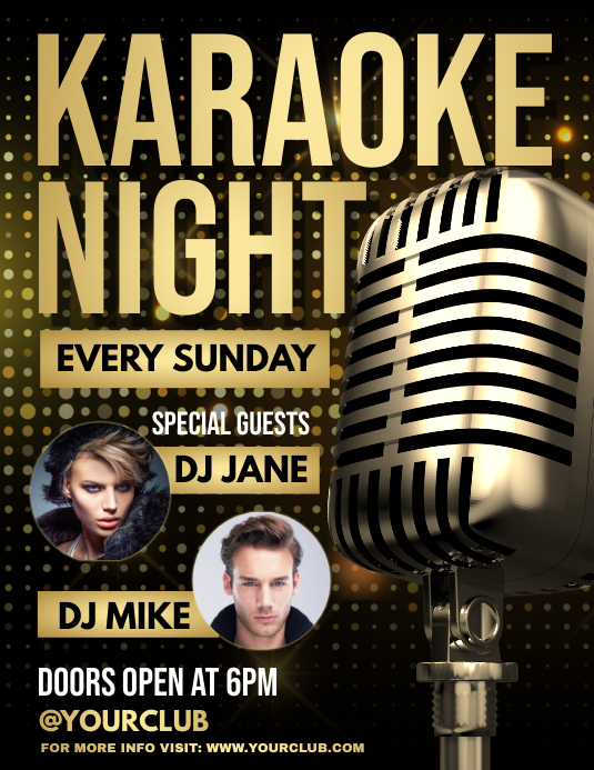 Karaoke, Karaoke flyer, Karaoke Night, jazz