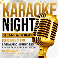 karaoke, karaoke night, karaoke party Instagram-Beitrag template