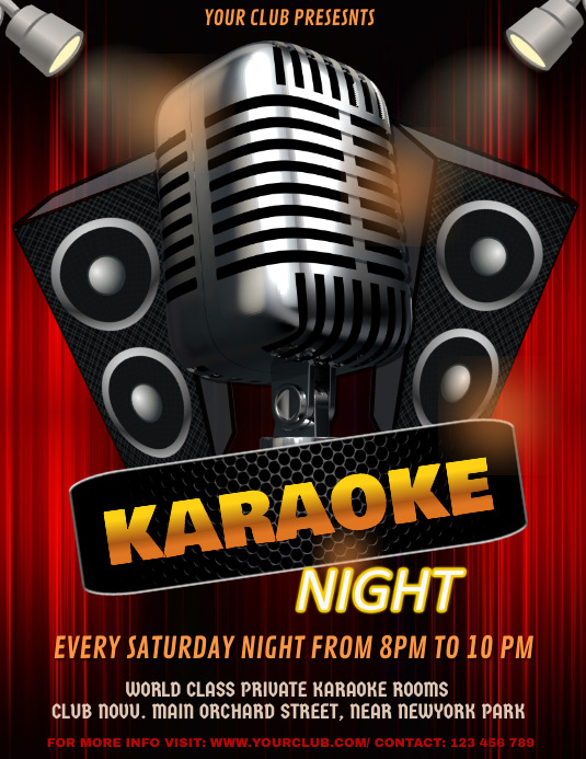 Karaoke, Karaoke posters, Karaoke Night, Jazz Night, Concert ใบปลิว (US Letter) template