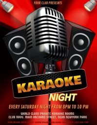 Karaoke, Karaoke Video, Karaoke Night, Jazz Night, Concert Pamflet (Letter AS) template