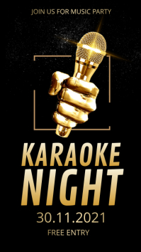 Karaoke, music party,event,karaoke night Instagram Story template