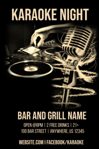 Karaoke Bar Night Template
