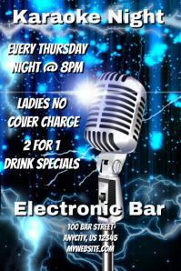 Karaoke Bar Night Poster