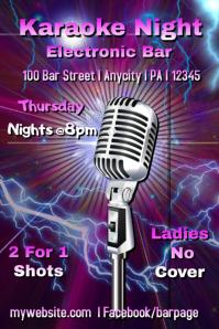 Karaoke Bar Poster