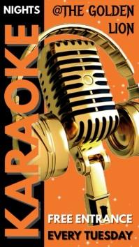 Karaoke Bar Pub Menu Template Цифровой дисплей (9 : 16)