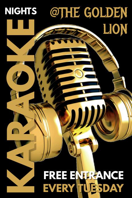 Karaoke Bar Pub Menu Template