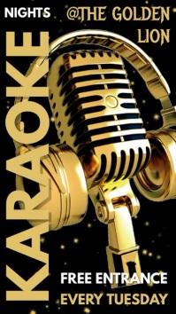 Karaoke Bar Pub Menu Template Digitale Vertoning (9:16)