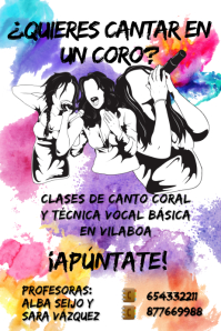 Karaoke/choir poster