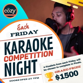 Karaoke Competition Square Video