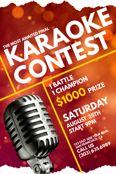 Karaoke Contest Poster Template 海报