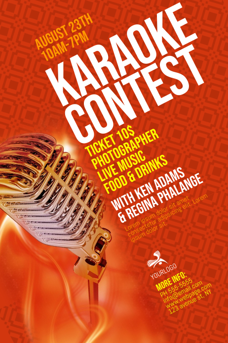 Karaoke Contest Flyer Template