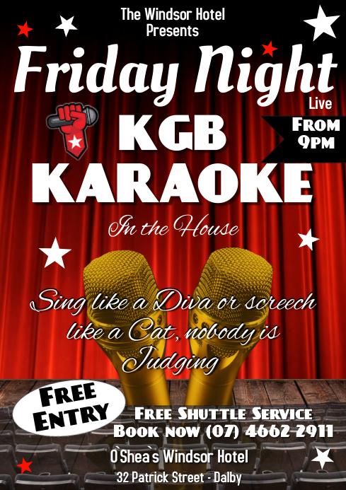 Karaoke A3 template