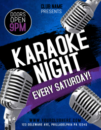 karaoke Flyer (US Letter) template