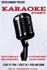 Karaoke event flyer template