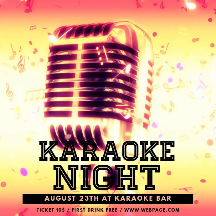 Karaoke Event Video Advertising Flyer Template