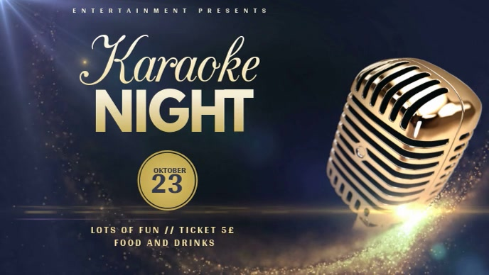 karaoke event video template for facebook cover