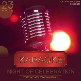Karaoke event video template for instagram