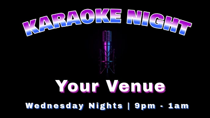 Karaoke Facebook Cover Video template