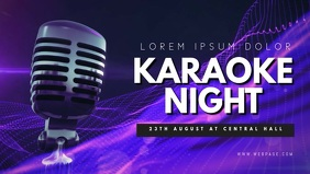 Karaoke Facebook Video Cover Template