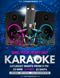 Karaoke Flyer, Karaoke Night, Jazz Night,