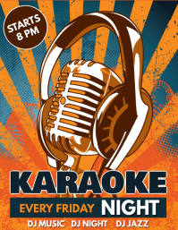 Karaoke Flyer, Karaoke Night, Jazz Night, Music Night