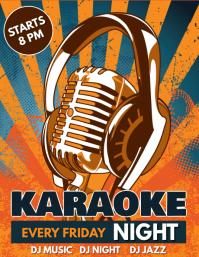 Karaoke Flyer, Karaoke Night, Jazz Night, Music Night