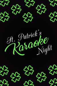 karaoke flyer, St. Patrick's, St. Patrick's Karaoke Flyer