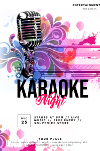 Karaoke Flyer Cartaz template