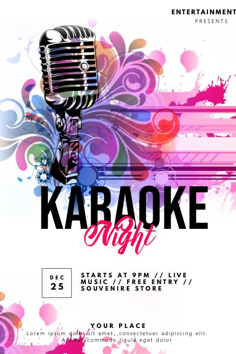 Karaoke Flyer โปสเตอร์ template