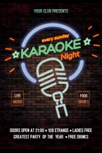Karaoke Flyer Banner 4' × 6' template
