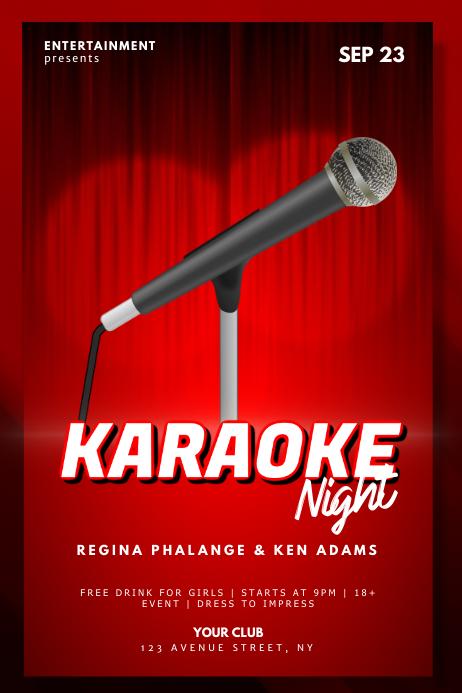 Karaoke flyer design template