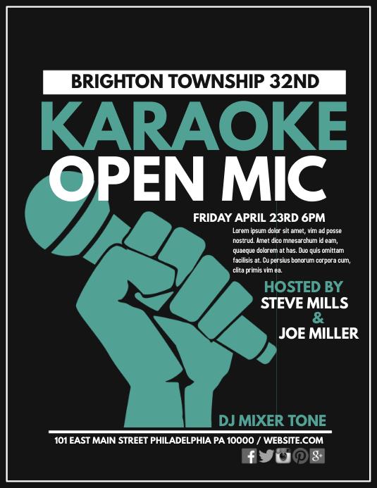 Karaoke Pamflet (Letter AS) template
