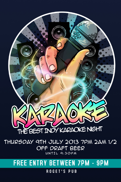 Free Karaoke Flyer Template Image Collections Template Design Free