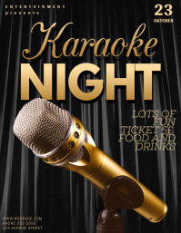 Karaoke Flyer Template for karaoke