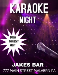 KARAOKE KARAOKE NIGHT BAR EVENT