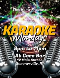 Karaoke Mondays Flyer