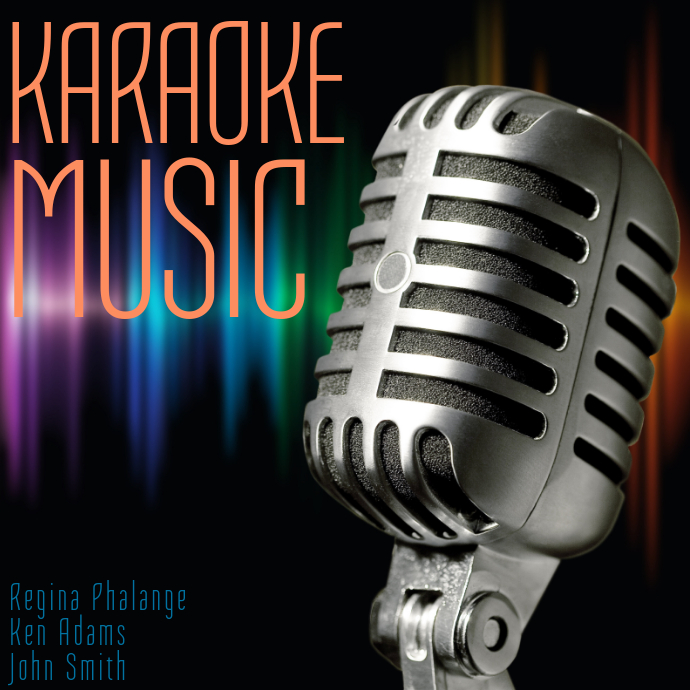 Karaoke Music Album Cover Template Postermywall