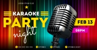 KARAOKE NIGHT BANNER Imagen Compartida en Facebook template